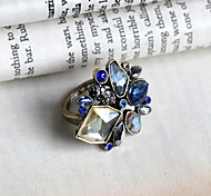 MOSE Blue Crystal delicate female ring