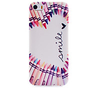Painted Pattern Transparent Soft TPU Material Cell Phone Case for iPhone 5/5S