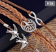 Hot Women Handmade Woven Bangle Metal Bracelet Jewelry