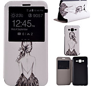 Back Pattern PU Material All Inclusive Bracket Models phone Case for Samsung Galaxy J5/J7