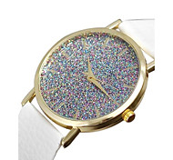 Watch Women Starry Flash Diamond Leather Watch Student Quartz Watches Montre Femme