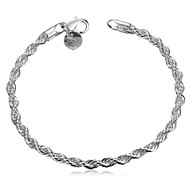 XU Ladies Fashion Circular Shrinkage Silver Bracelet