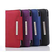 4,7 pulgadas patrón de línea de mano de alta calidad de la PU estuche de cuero de la carpeta para 6s iphone (colores surtidos)