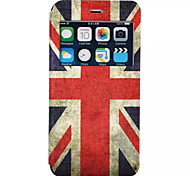 British Flag Pattern PU Material Flip Open the Window Leather for iPhone 6S Plus