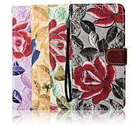 iphone 7 plus de 5,5 pouces étui en cuir toile de motif de broderie portefeuille avec support pour iPhone 6s 6 plus