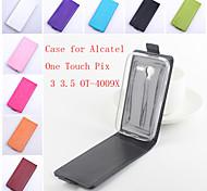 aleta de couro estojo de proteção magnética para Alcatel One pixi toque 3-4009x 3.5 AT (cores sortidas)