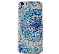 Half Flower Pattern Transparent TPU Material Soft Thin Cell Phone Case for iPhone 5C