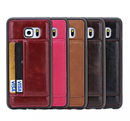 TPU +Leather Credit Card Holder Stand Wallet Back Case Cover for Galaxy S6 Edge Plus/S6/S6 Edge(Assorted Color)