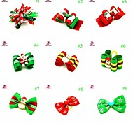 FUN OF PETS® Beautiful Christmas Style Pet Hair Grooming Accessories Rubber Hair Bows Dogs Charms Gift for Pets Dogs