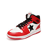 Men's Shoes Outdoor / Casual Leather Fashion Sneakers Black / Red / White