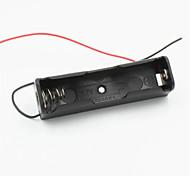 1-ranura titular 18650 bricolaje w / 2 cables - negro