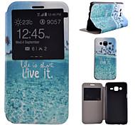 Kokosnuss-Baum-Muster PU-Material all inclusive Halterung Modelle Telefonkasten für Samsung-Galaxie j5 / j7