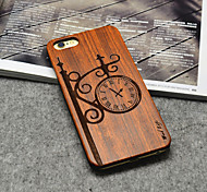 Wooden iphone Case Fashion Street Clock Hard Back Cover for iPhone 6/6s