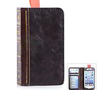 stile del libro caso protettivo di cuoio dell'unità di elaborazione per iPhone5 / 5s - marrone