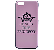 Imperial Crown Pattern PC Hard Case for iPhone 5C