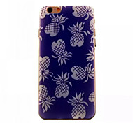 Blue Pineapple Pattern TPU Phone Case For iPhone 6