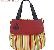 Kate & Co.® Women PVC / Cowhide Tote Orange / Red - TH-02111