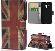 uk pu wallet caso tutto il corpo con il basamento per Alcatel One Touch pop d5 ot5038e