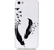 Feather Pattern TPU Soft Case for iPhone 5C