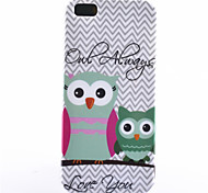 Two Owls Pattern TPU Soft Phone Case for iPhone 5C