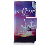 Anchors Pattern PU Leather Full Body Case for iTouch 5