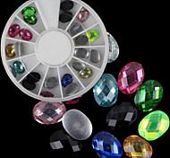 Beautiful Flat Oval Acrylic Glass Drilling Diy Nail Art Decorations