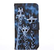 Giraffenmuster PU-Material Tasche für Asus zenfone 2