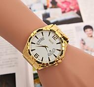 Men's  Watch  Swiss Quartz Watch 3 Color Fake Calendar Gold Watch Cool Watch Unique Watch