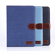 ji de jean caso de couro lona para mini-Apple iPad 1/2/3 com display retina, vaqueiro Stand Case para iPad mini 1 2 3