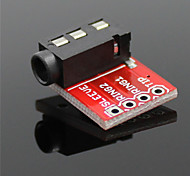 3.5mm módulo de sonido estéreo de toma de audio w / mic para mp3 player - rojo