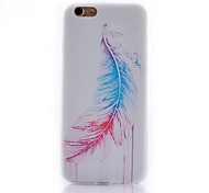 Angel Wings Pattern Transparent Soft TPU Material Cell Phone Case for iPhone 6