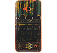 Black Feather Patterns TPU + IMD Phone Case For Nokia N640