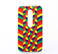 Polychrome Minigaga Pattern TPU Soft Case for Motorola Moto G3