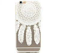 White Campanula Pattern TPU Cell  Phone  Soft  Shell  For iPhone 6
