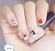 3Pcs 3D Design Nail Sticker DIY Tips Decoration