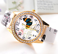 Butterflies Women's Fashion retro cartoon   Hot sell Ladies' punk Diamond Watch freeshipping