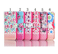 Flowers Pattern Special Design for Ladies High-quality Leather Sheath with Kickstand for Samsung Galaxy S5