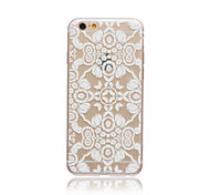 White Dream Flowers Style Transparent Soft TPU Back Cover for iPhone 5C