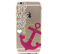 Anchor Pattern TPU Relief Back Cover Case for iPhone 6/iPhone 6S