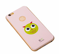 Cute Pink Anti-radiation iPhone6 Plus Case Graphene Cooling Phone Stickers Cover with Owl for Apple iPhone6 Plus