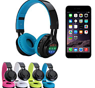 Wireless Bluetooth Headset Wearing Type Stereo Bluetooth Headphones Support SD TF FM Radio Music Phone Call LED-RGB