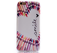 Love Pattern Transparent Soft TPU Material Cell Phone Case for iPhone 6