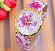 Hot Sell  New Flower Style Pu  Leather Women's  Fashion  Watch
