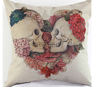 Skull Pillowcase Sofa Home Decor Cushion Cover (17*17 inch)