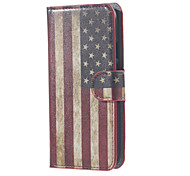 For Motorola Case Wallet / Card Holder / with Stand / Flip Case Full Body Case Flag Hard PU Leather Motorola