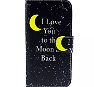 Mond-Muster PU-Leder-Tasche für Samsung Galaxy S6 / S6 Galaxienrand / galaxy s6 Kante sowie