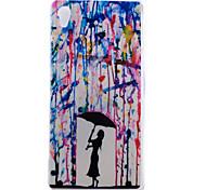 Regenschirm-Muster-TPU Material dünnen transparenten Soft-Phone-Fall für Sony Z3 / Z4
