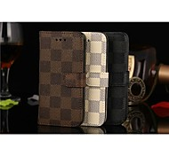 Flip Cover Card Slot Wallet Case Support Lattice Business Style Pu Mobile Phone Shell for iphone 5/5S Assorted Colors