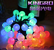 King Ro Solar Outdoor String Lights 19.7ft 30 LED Crystal Ball Solar Powered Globe Fairy Lights