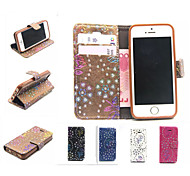Peacock Pattern Flower Flip Leather Case Wallet Cover for iPhone 5/5S(Assorted Color)